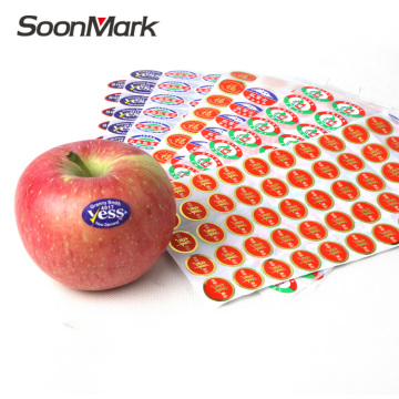Customized food packaging adhesive sticker fruit label