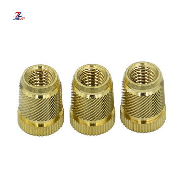 Copper nut copper insert embedded cold knurled nut