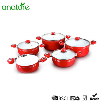 Pressed Aluminum Ceramic 10Pcs Sauce Pot