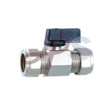 Brass compression type mini ball valve