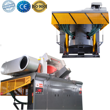 electric aluminum copper scrap induction melting pot