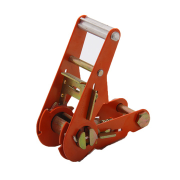 1.5 inch high quality orange spraying plastics ratchet buckle/tie down