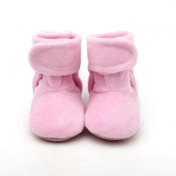 Plush Pink Baby Girl High Boots Winter
