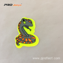 Reflective Adhesive Pvc Snake Shape Stickers For Children