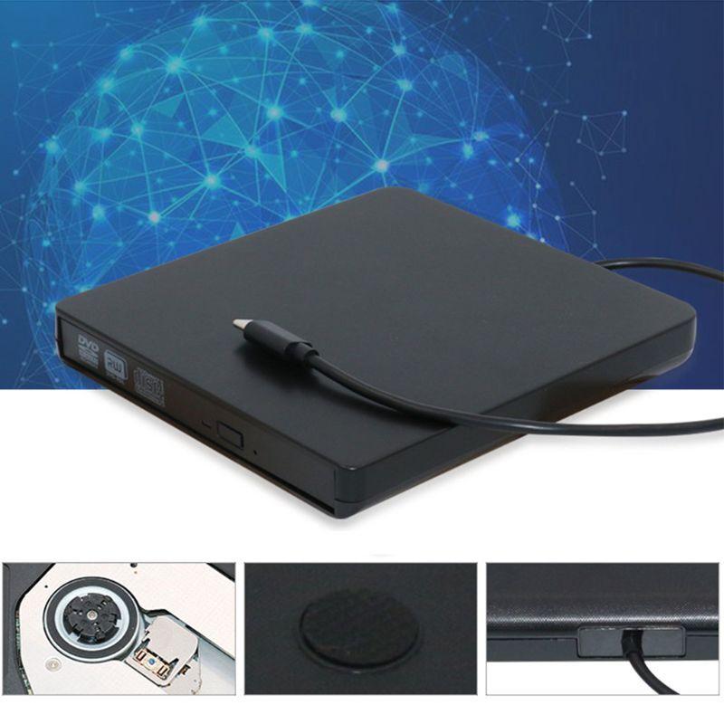 USB C Type C CD DVD RW Recorder External Optical Drive DVD Burner Rom Rewriter For Macbook Notebook Laptop PC Computer Hot