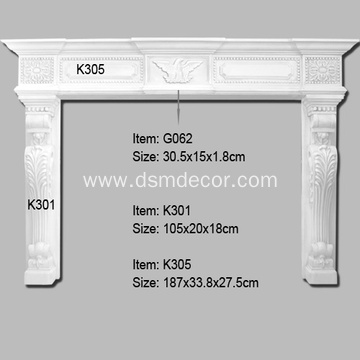 PU Foam Decorative Fireplace Mantels