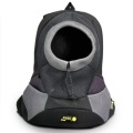 Black XLarge PVC and Mesh Pet Backpack