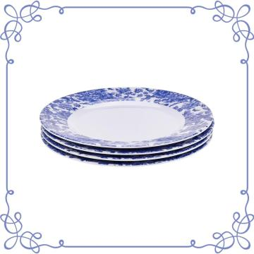 "9"" Melamine Round Plate Set of 4"