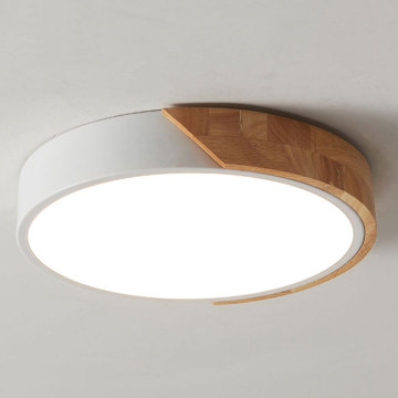 Modern round led study bedroom log ceiling lamp