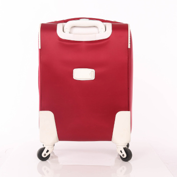 cheap polyester trolley luggage spinner wheels