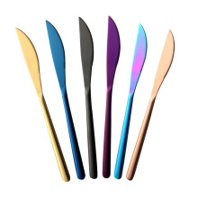 Cheap Price Thick Rainbow Flatware Metal Korean Knife