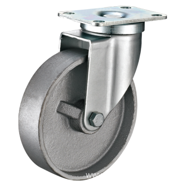 125mm Swivel Cast Iron Medium Duty Industrial Caster