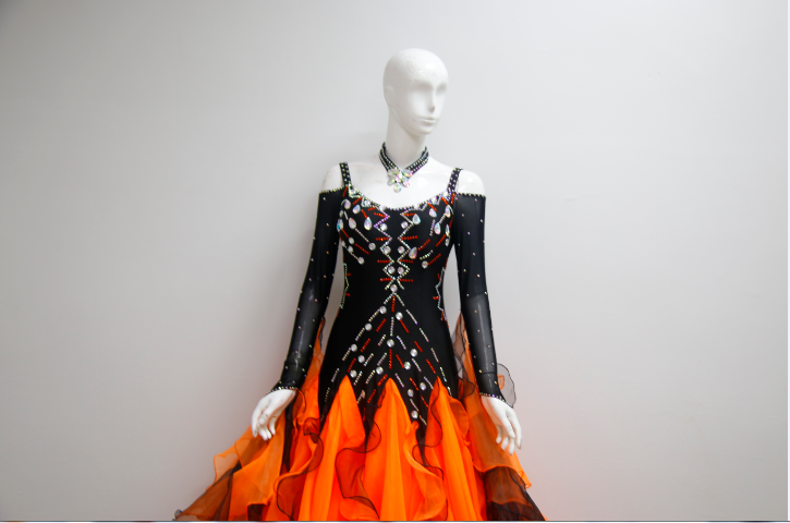 Ballroom Dance Costumes With V Back