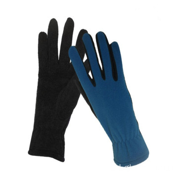 Women Soft Polyester Multicolor Touch Fleece Gloves