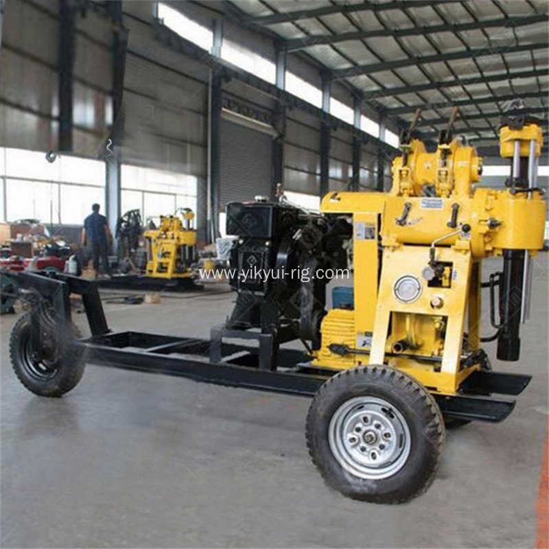 130m Trailer-Type Hydraulic Water Well Drilling Machine