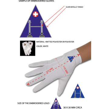 Masonic Dress Handskar med WM Square