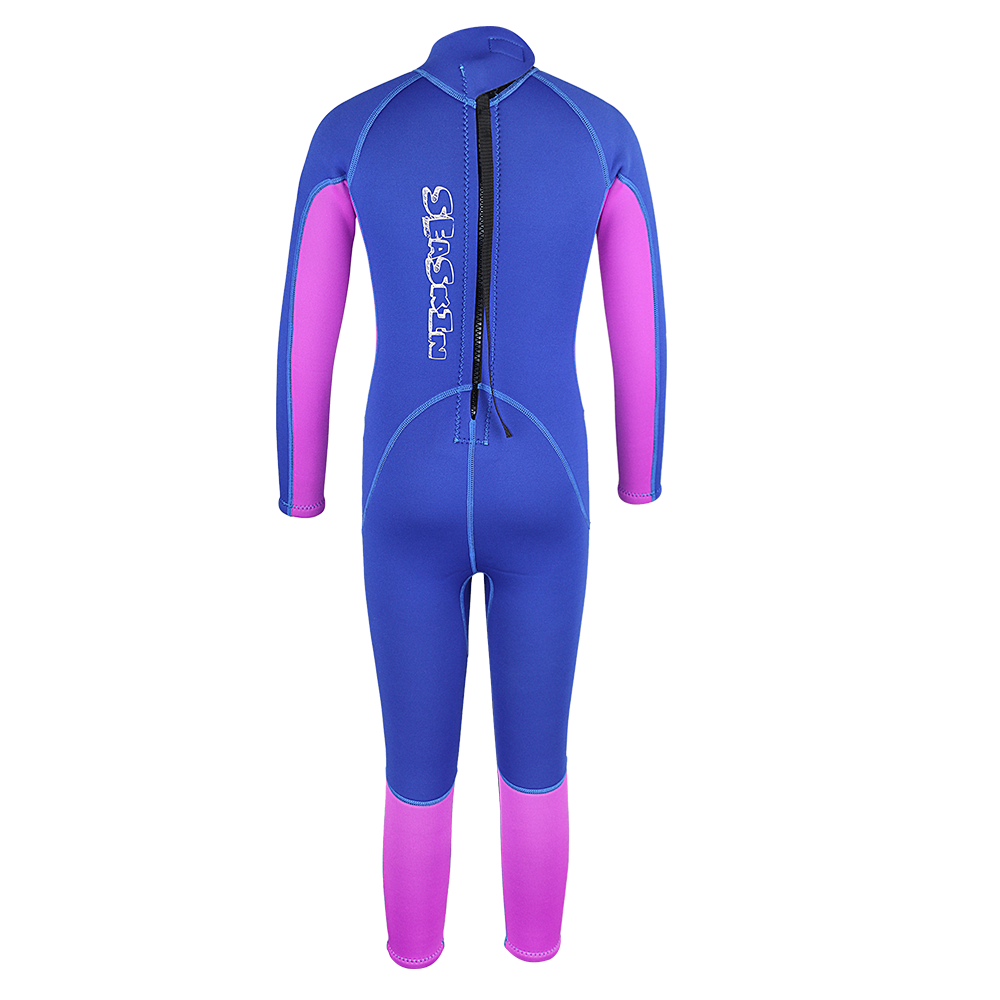 Seaskin Kids Back Zip Long Wetsuit