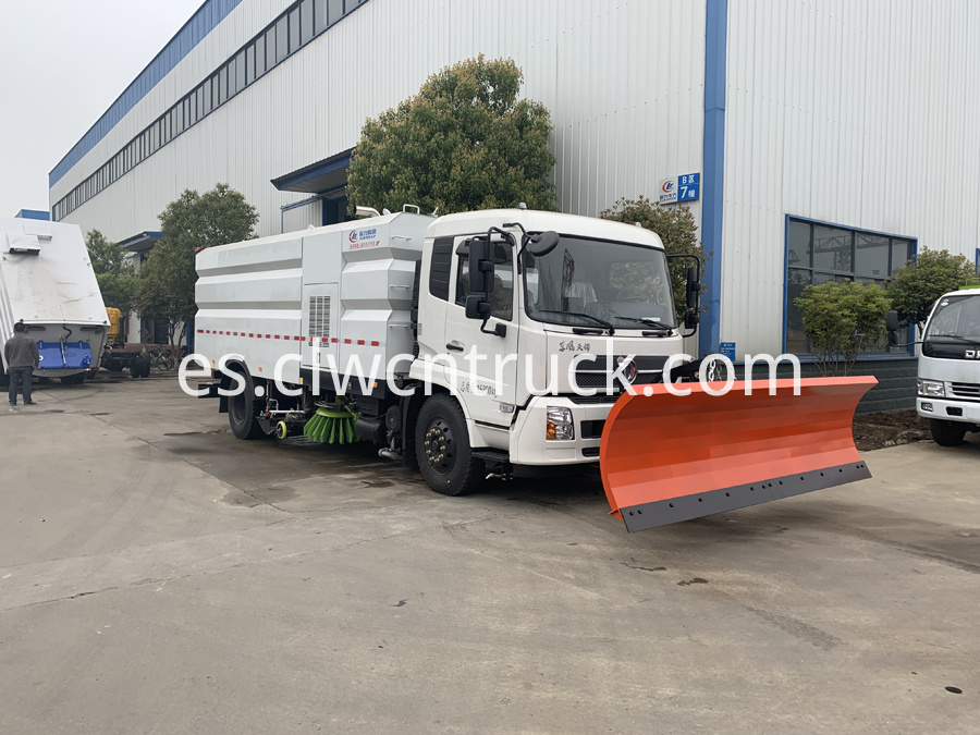 street sweeper cleaning truck