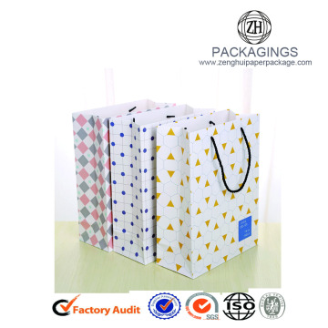 Hot sale white art paper shopping bags