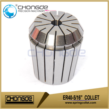 "ER40-5/16"" Precision Collet Clamping Range 0.312"" - 0.273"""