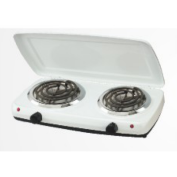 2 Burner Hot Plate with Cover