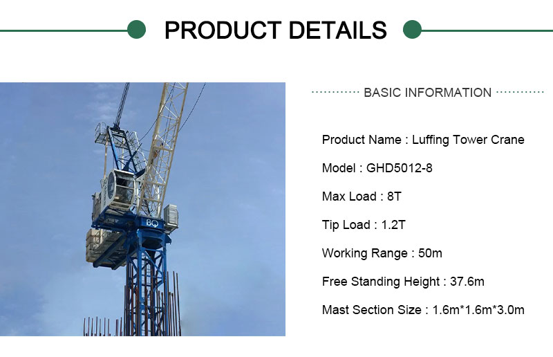 8 ton tower crane