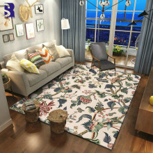SunnyRain 1-piece Fleece Rustic Design Rugs and Carpets for Living Room Area Rug Kitchen Rug Bed Room Rug Slipping Resistance