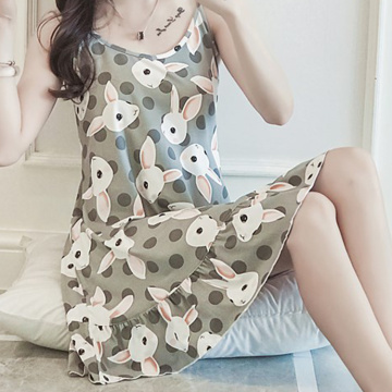 Thin milk silk pajamas loose size sexy