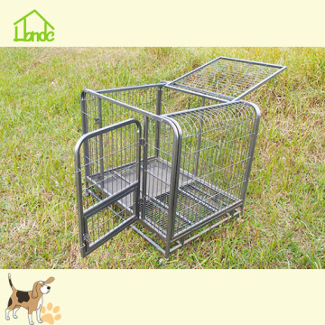 Wholesale Foldable Heavy Duty Pet Crate With Wheels