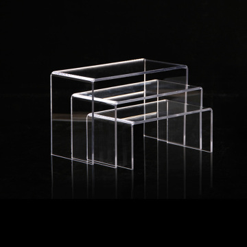 U-shaped Acrylic Display Stand Holder Risers Counter Set