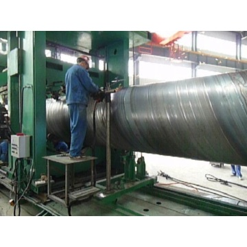spiral welded pipe line