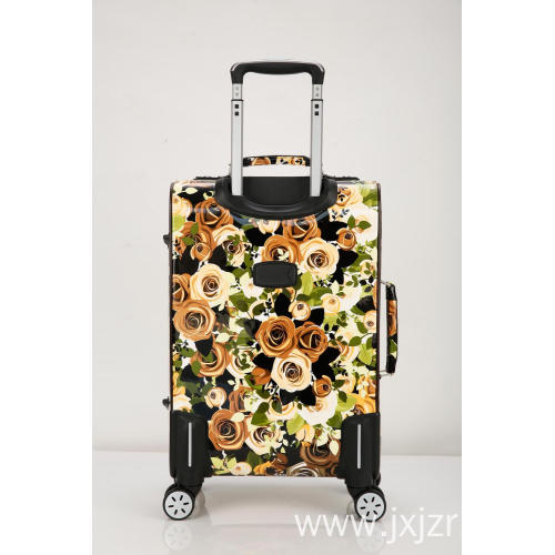 Rolling Flowers Carry On Luggage