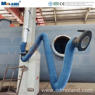 Wall Mounted Flexible Suction Arm for Extraction System