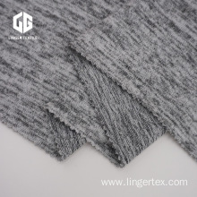 Heather Grey Polyester Hacci Fabric For Sweater