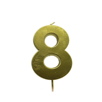 High Quality Custom Gold Number Birthday Candle