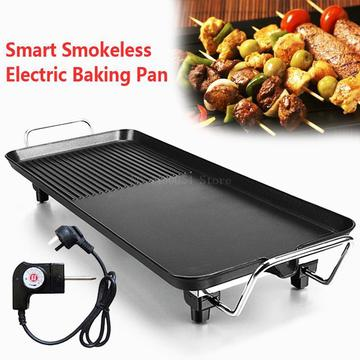 Aluminum Electric Grills Indoor Korean Bbq Grill Ceramic Smokeless Non-stick Less smoke Home Electric Barbeque Tools
