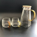 hammered glass juice pitcher and cups set