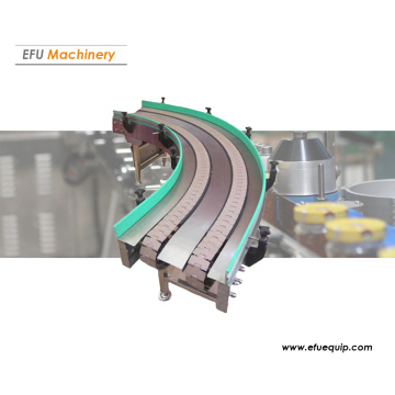 Curved chain plate conveyor
