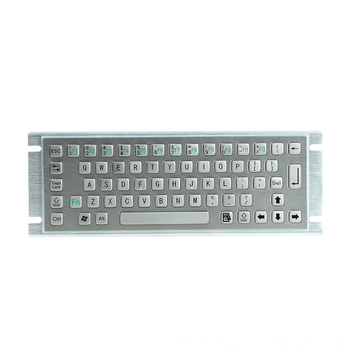 Waterproof IP65 Information Kiosk Metal Keyboard