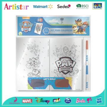 PAW PATROL opp bag packing 3D glasses colouring