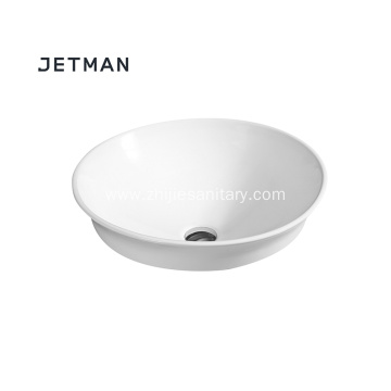Fancy design oval bathroom wash basin