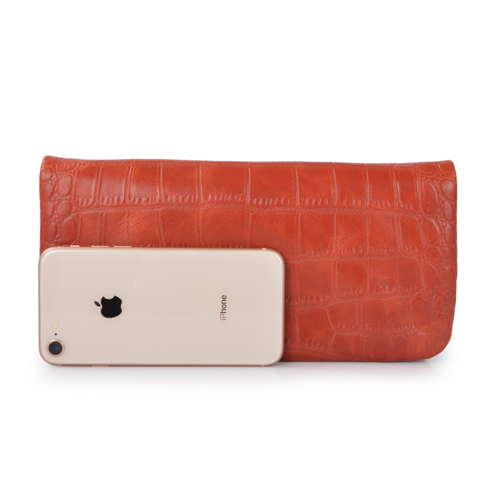 fashion double zipper clutch wallet Leather women clutch bag