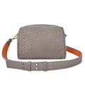 Large Capacity Pure Leather Women Woven Crossbody Bag