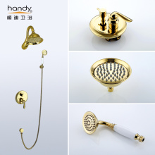 Gold Color Antique Bathroom Faucet