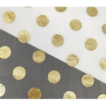 Voile fabric with big polka dot for tutu