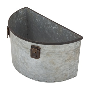 Metal Wall Planter Olive Bucket