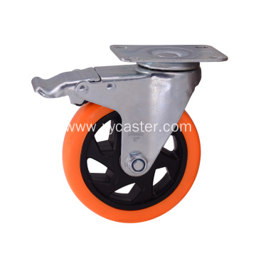 PVC  wheel Rotating with brake