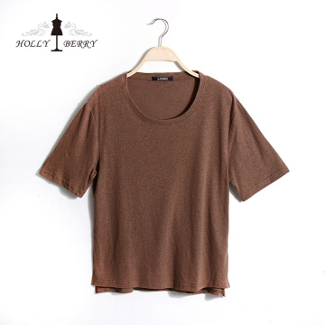 T-shirt Women New Stylish Brown Soft Unlined