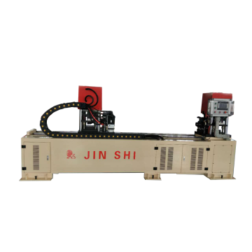 Hydraulic cross brace automatic flattening punching machine