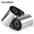 Black thermal transfer ribbon 110mm wax/resin for printer